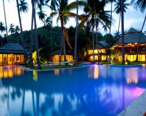 Stunningly beautiful Villa Kalyana is an exclusive beachfront estate on a private bay on Koh Samui. The natural design of this 5 to 10-bedroom residence accommodate up to 18 adults plus and 4 children.